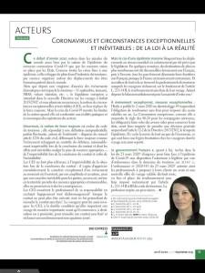 Juristourisme Avril2020 covid-19